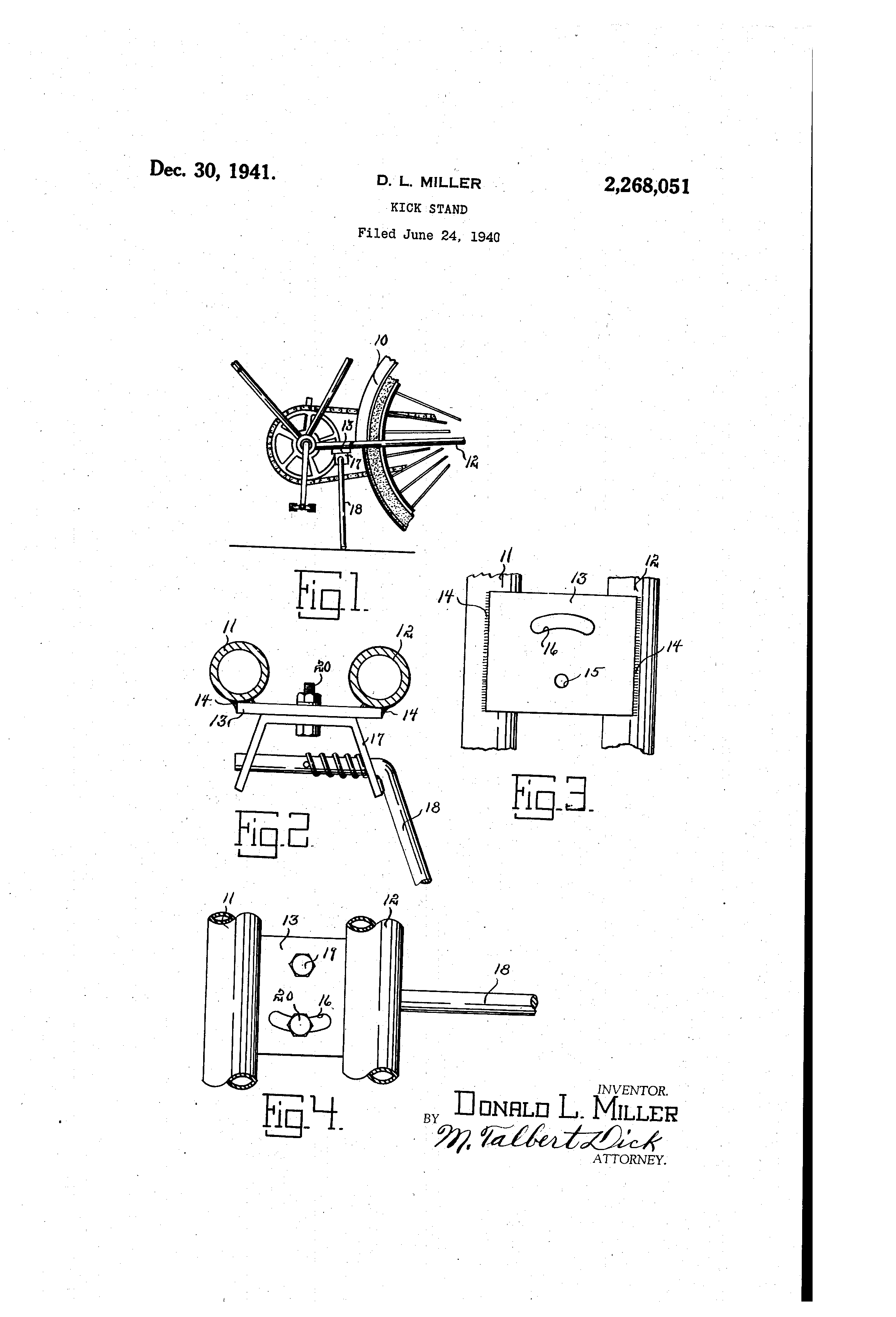 Miller Products Company kickstand patent