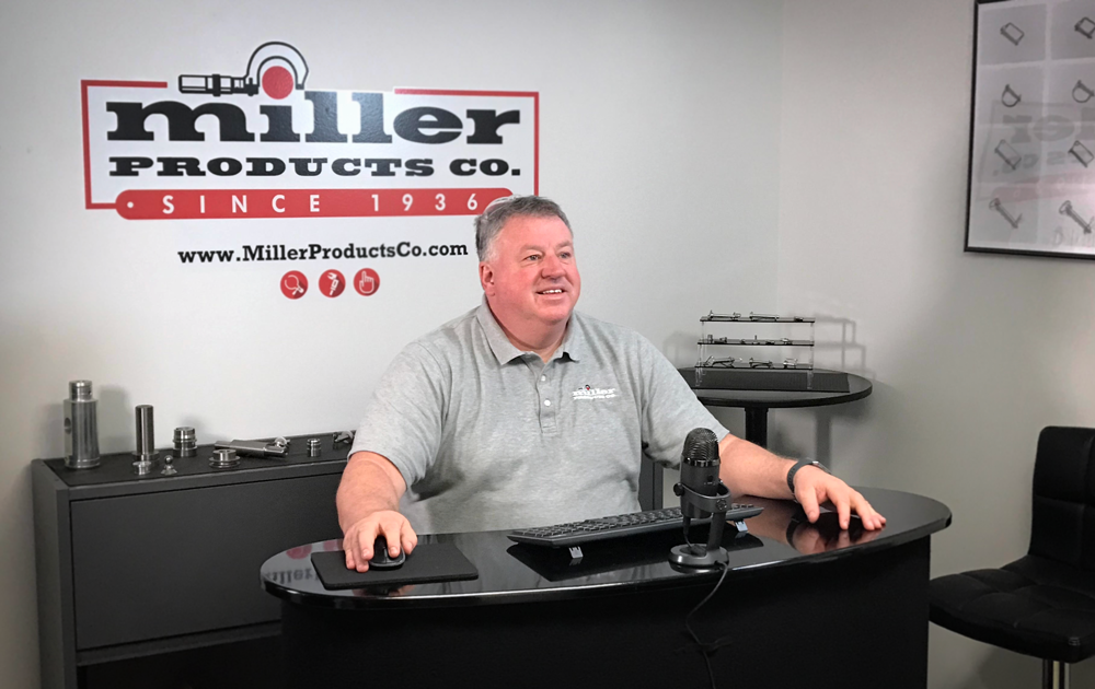 """miller products company maintains sales and customer support through """"The ZOOM Room."""""""